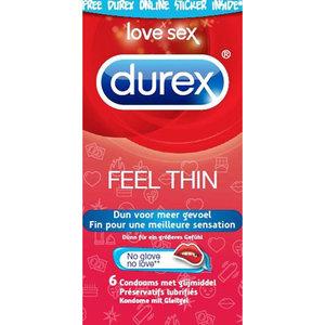 Durex Emoji Feel Thin - 6 stuks